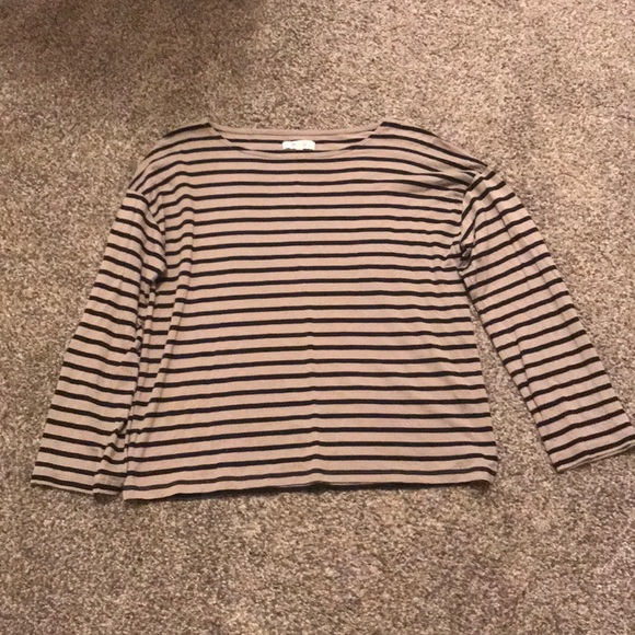 Madewell Tops - Madewell Lyocell Striped Tee Size S